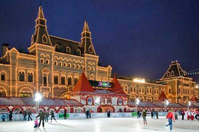Skating Rink, GUM Department Store, Red Square, Moscow