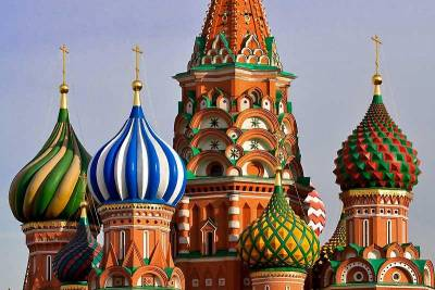 Spires, St Basil's Cathedral, Red Square, Moscow