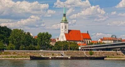 St Martin's Cathedral, Danube River, Bratislava