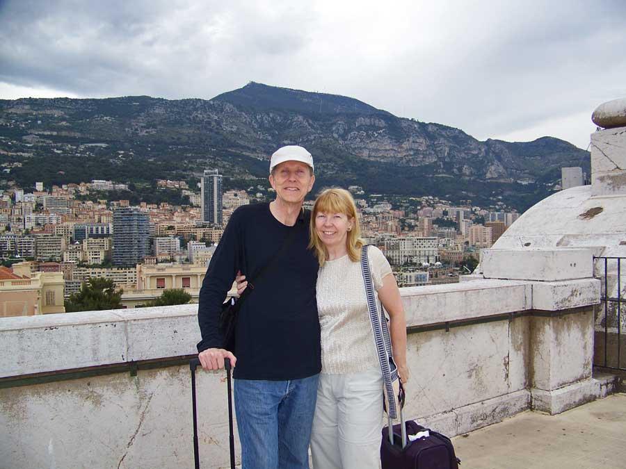 Tim, Viki, Roof of Monaco Aquarium