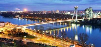 UFO Bridge, Danube River, Bratislava