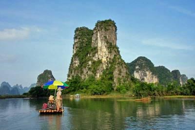 Bamboo Raft, Yangshuo, Visit Guilin