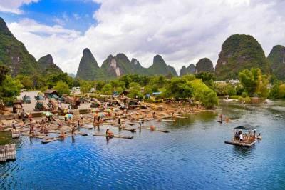 Bamboo Rafting, Yangshuo