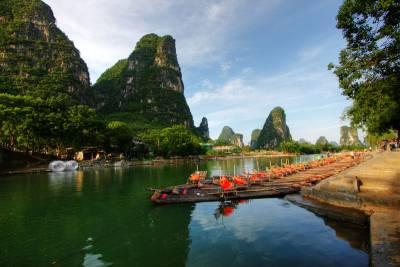 Bamboo Rafting, Yangshuo, Visit Guilin
