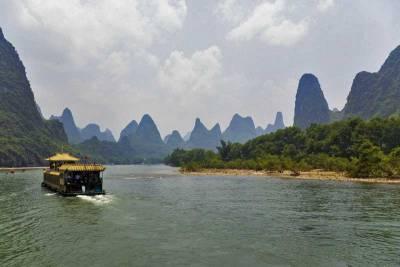 Li River Cruise Barge, Limestone Karst, Visit Guilin