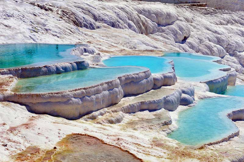 Pamukkale Travertine Mineral Springs, Touring Turkey