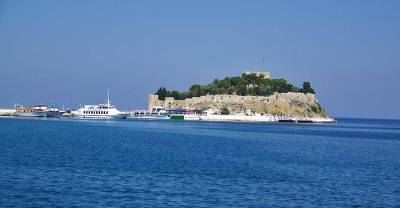 Pigeon Island, Kusadasi Harbor, Ephesus Shore Excursion