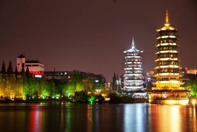 Sun and Moon Pagodas, Visit Guilin