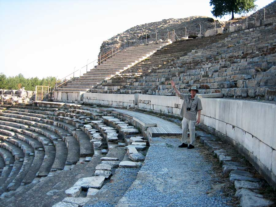 Tim at the Ephesus Amphitheater