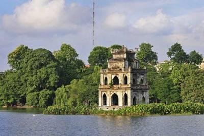 Tortoise Tower, Hoan Kiem Lake, Visit Hanoi