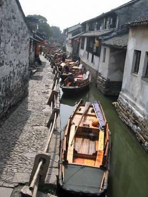 Zhouzhuang Water Village Canal near Shanghai