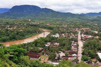 Luang Prabang and Mekong River from Phou Si Hill