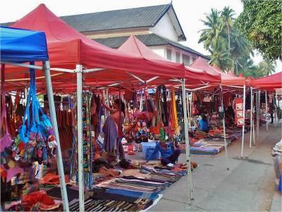 Night Market Set Up Daily, Visit Luang Prabang