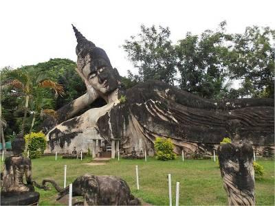 Reclining Buddha, Buddha Park near Vientiane