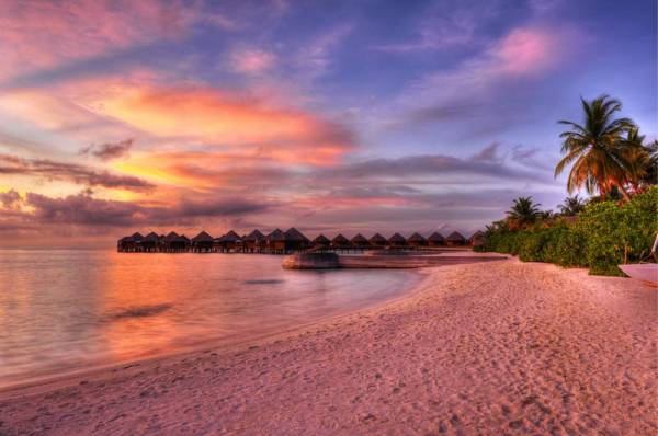 Sunset, Maldives Island Vacation Resort, Visit the Maldives