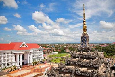 View from top of Patuxai Victory Monument, Visit Vientiane