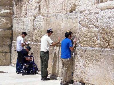 Wailing Wall Worshippers, Visit Jerusalem