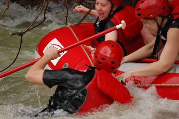 Man Overboard, Toro River Rafting, Costa Rica Tour