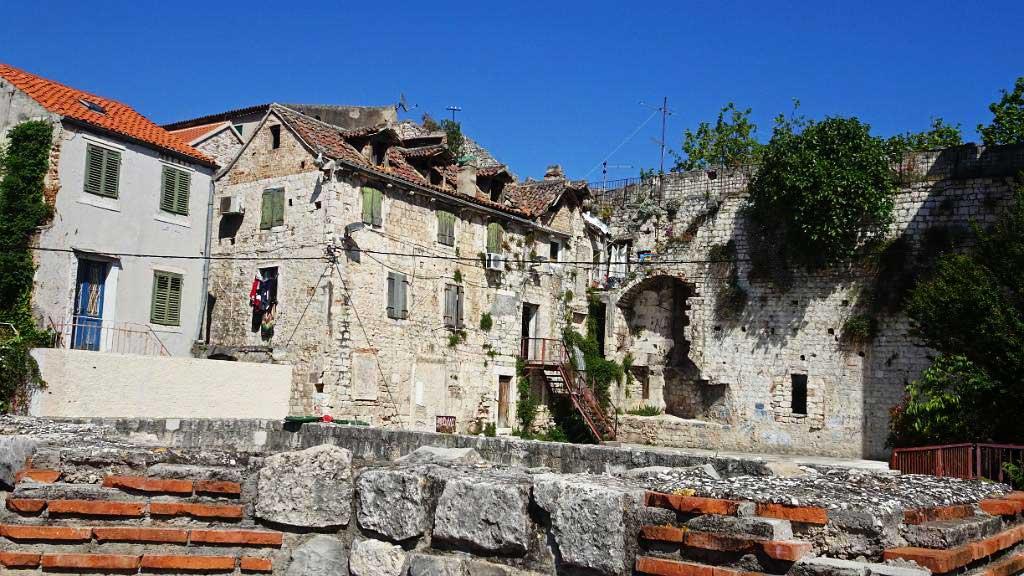 Apartments in Diocletian's Palace, Roman Ruin,Split, Croatia