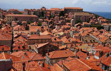 Dubrovnik Old Town Roofs from City Wall