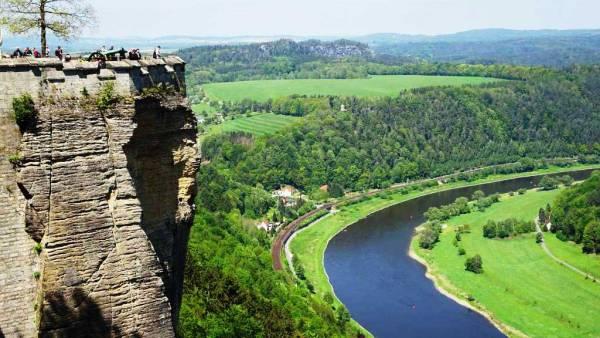 Elbe River, Konigstein Castle near Dresden
