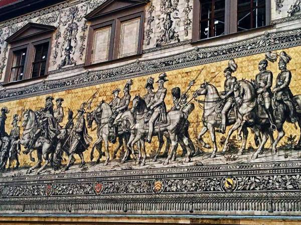 Furstenzug Mural, Old Town, Touring Dresden