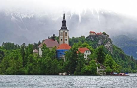 Lake Bled Island Church, Slovenia