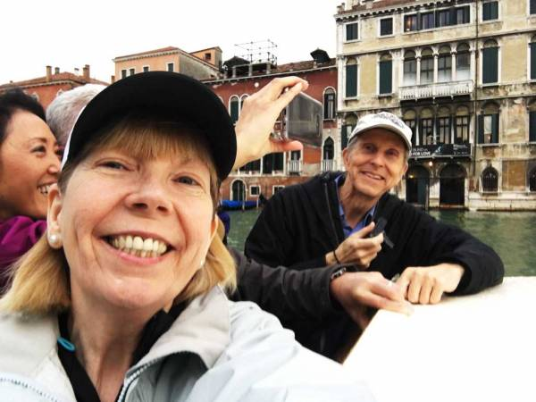 Viki and Tim, Grand Canal, Venice
