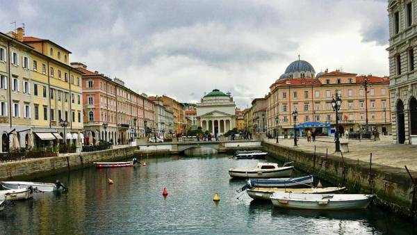 Trieste Grand Canal, Italy