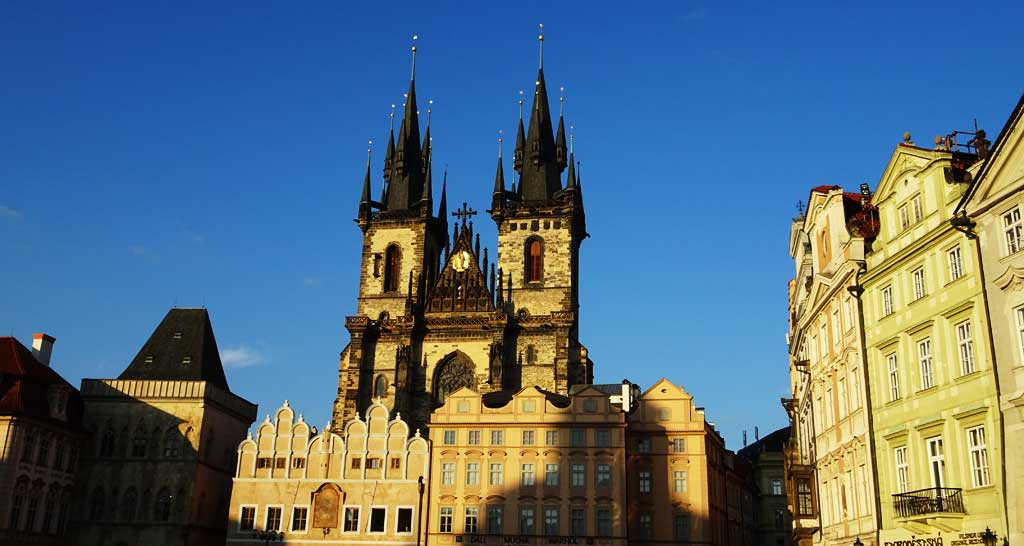 Tyn Church at Sunset, Touring Prague