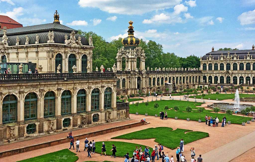Zwinger Palace Grounds, Old Town, Touring Dresden