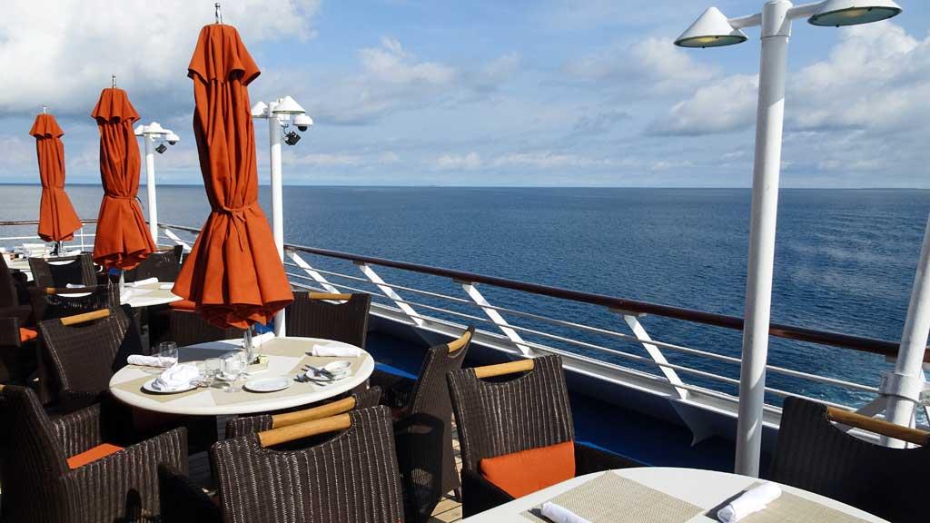Outdoor Seating Terrace Cafe, Oceania Regatta Review