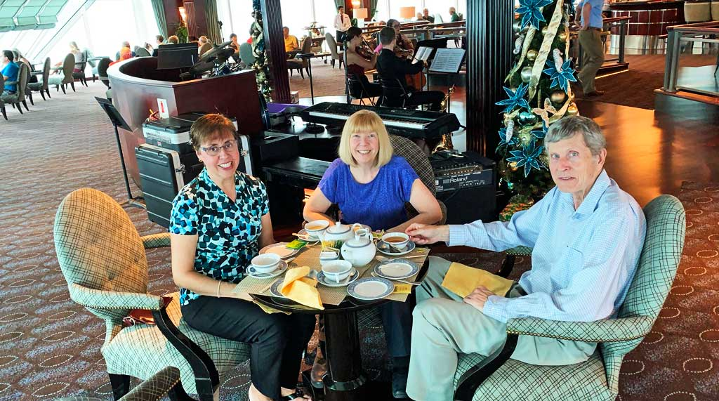 Tim and Viki, Afternoon Tea, Oceania Regatta Review