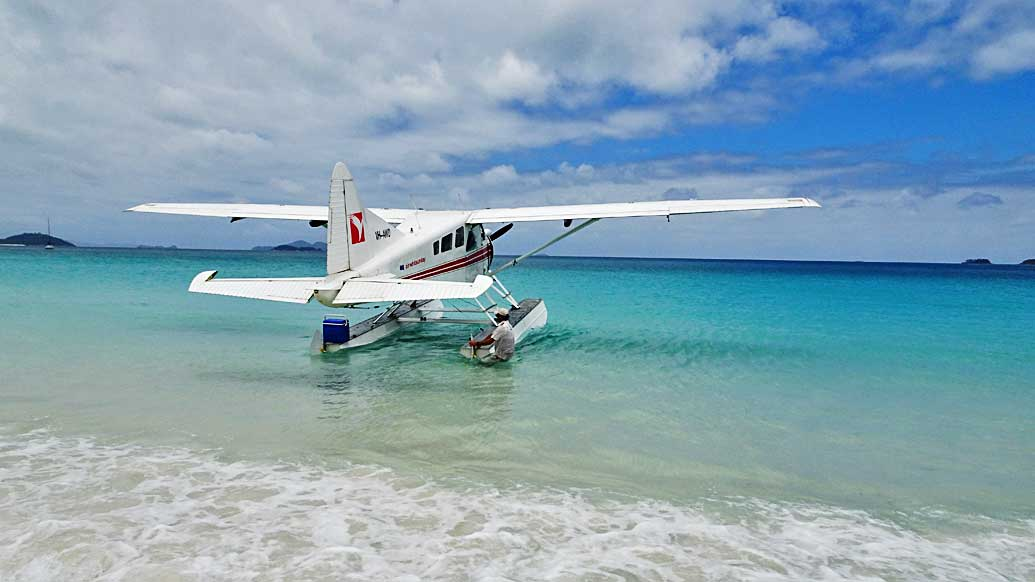 Air Whitsunday, De Havilland Beaver, Whitehaven Beach, Great Barrier Reef Shore Excursions