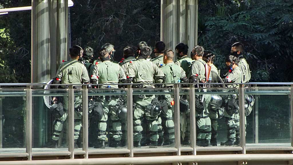 Hong Kong Riot Police, Hong Kong during Protests, December 2019