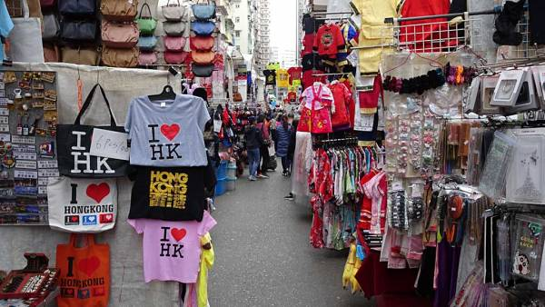 Mong Kok Street Market, Hong Kong during Protests