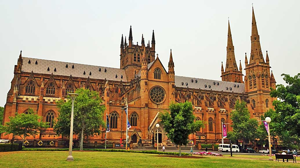 St Mary's Cathedral, Hyde Park, Sydney Visit