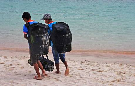Top Komodo Tours carrying Snorkel Gear