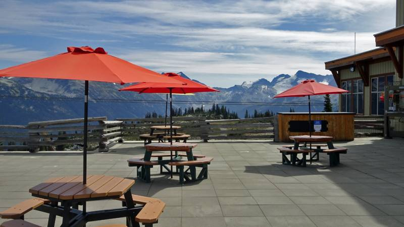 Roundhouse Lodge Deck, Whistler